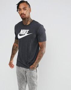 Черная меланжевая футболка Nike Legacy 875409-055 - Черный