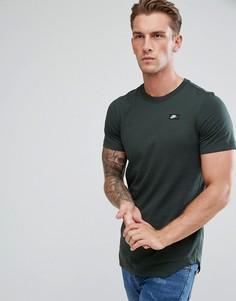 Зеленая длинная футболка Nike Modern 873239-332 - Зеленый
