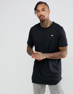 Черная длинная футболка Nike Modern 873239-010 - Черный
