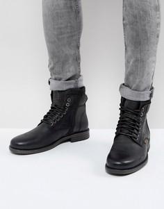Черные кожаные ботинки с джинсовой отделкой Levis Emmerson - Черный Levis®