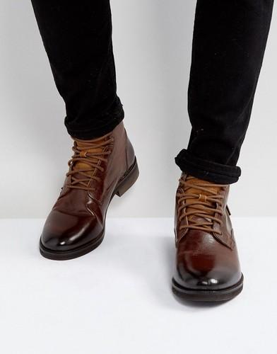 Коричневые кожаные ботинки Levis Baldwin - Коричневый Levis® 12588380 | LOOKBUCK