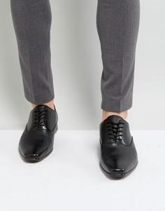 Черные кожаные оксфорды на шнуровке ALDO Craosa - Черный