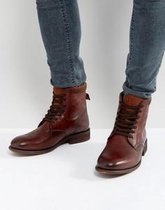 Коричневые кожаные ботинки на шнуровке ALDO Derrian - Коричневый