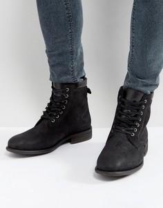 Черные кожаные ботинки со шнуровкой ALDO Derrian - Черный
