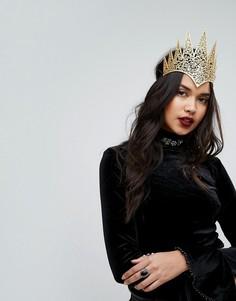 Королевская корона с вырезами для Хэллоуина Leg Avenue - Золотой