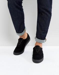 Черные кеды на шнуровке с меховой подкладкой ASOS - Черный
