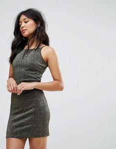 Облегающее платье на тонких бретельках Glamorous - Черный