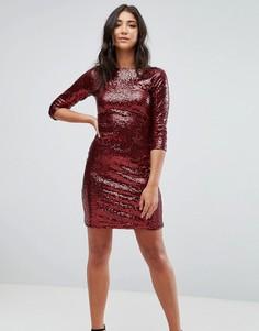 Платье с пайетками Glamorous - Красный