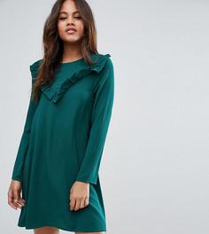 Платье-трапеция с оборкой Brave Soul Tall - Зеленый