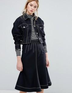 Куртка от комплекта в джинсовом стиле Sportmax Code Alcamo - Темно-синий