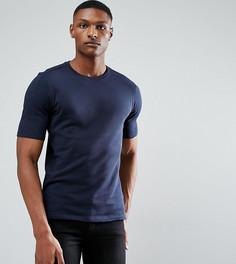 Трикотажная футболка из органического хлопка Selected Homme TALL - Темно-синий