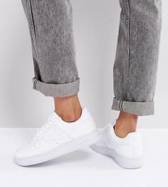 Белые лакированные кроссовки Nike Air Force 1 07 - Белый