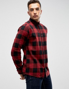 Рубашка слим в клетку Only & Sons - Красный