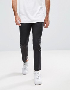Темно-серые укороченные брюки суперзауженного кроя ASOS - Серый