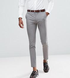 Серые укороченные облегающие строгие брюки ASOS TALL - Серый