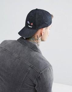 Серая джинсовая бейсболка ASOS - Серый