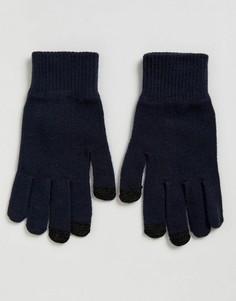 Темно-синие перчатки для сенсорных гаджетов ASOS - Темно-синий