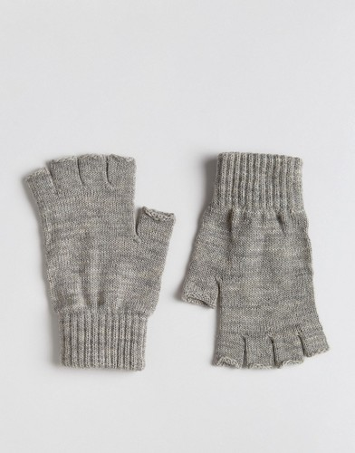 Серые меланжевые перчатки без пальцев ASOS - Серый