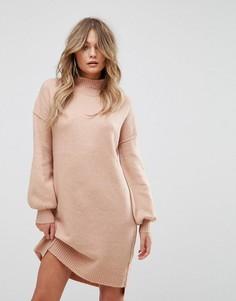 Платье-джемпер миди River Island - Розовый