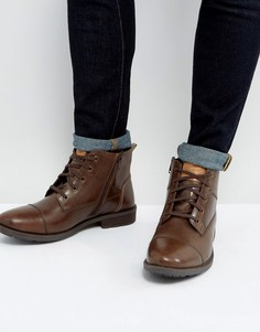 Коричневые ботинки на шнуровке Original Penguin Dalson - Коричневый