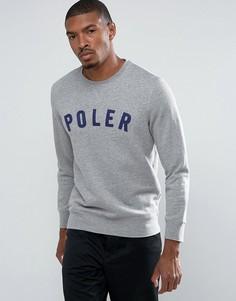 Свитшот с логотипом Poler - Серый
