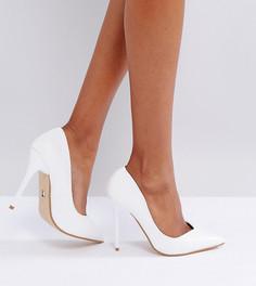 Белые туфли-лодочки на каблуке Lost Ink - Белый