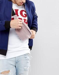Флисовая сумка-кошелек на пояс лилового цвета ASOS - Фиолетовый
