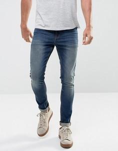 Темные джинсы скинни плотностью 12,5 унц ASOS - Синий