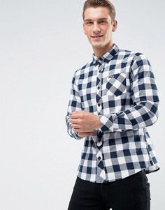 Фланелевая рубашка в клетку Tokyo Laundry - Темно-синий