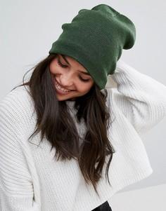 Зеленая шапка с флисовой подкладкой Plush - Зеленый