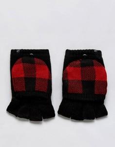 Варежки на флисовой подкладке с накладками для сенсорных гаджетов Plush - Черный