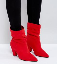Ботильоны на каблуке для широкой стопы ASOS REEVES - Красный