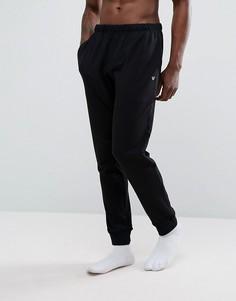 Черные легкие узкие спортивные штаны Emporio Armani - Черный