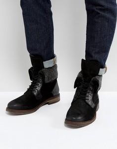 Черные теплые ботинки из замши Steve Madden - Черный