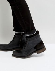 Черные кожаные ботинки Steve Madden Hardin - Черный