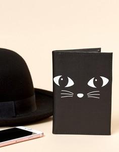 Обложка для паспорта с черным котом Sass & Belle - Мульти
