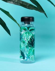 Бутылка для воды с лиственным принтом Sass & Belle - Мульти