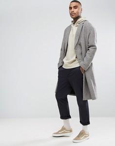Полушерстяное пальто с заниженной линией плеч ASOS - Коричневый