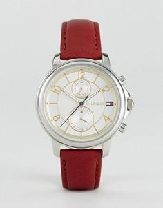 Часы с хронографом и красным кожаным ремешком Tommy Hilfiger 1781816 - Красный