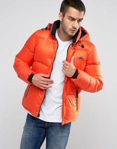 Оранжевая стеганая куртка со съемным капюшоном Penfield Equinox - Оранжевый