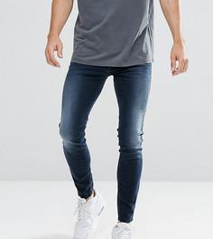 Темные супероблегающие джинсы Diesel Stickker 0685W - Темно-синий