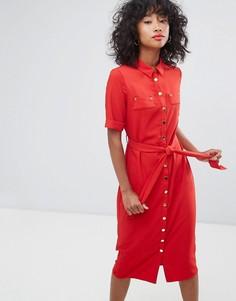Платье-рубашка миди Liquorish - Красный