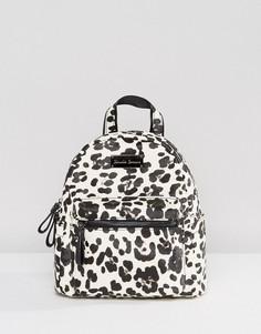 Мини-рюкзак с леопардовым принтом Claudia Canova - Черный