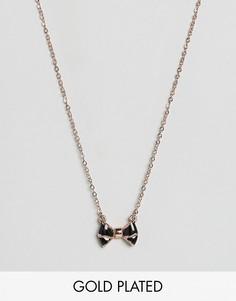 Ожерелье с эмалированной подвеской-бантиком Ted Baker - Черный
