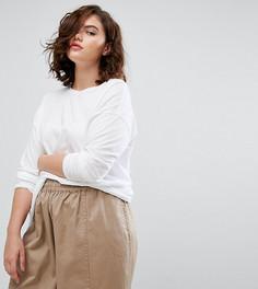 Свободная удлиненная футболка ASOS CURVE - Белый