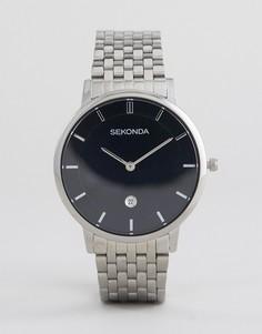 Серебристые часы-браслет Sekonda 1385 - Серебряный