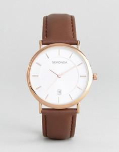 Часы с коричневым кожаным ремешком Sekonda эксклюзивно для ASOS - Коричневый