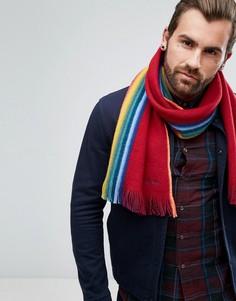 Двусторонний шерстяной шарф красного цвета PS by Paul Smith - Красный
