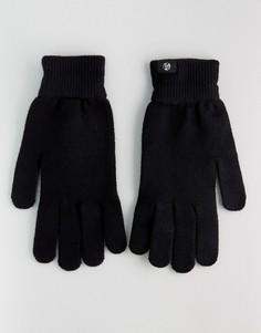 Черные перчатки из мериносовой шерсти PS by Paul Smith - Черный