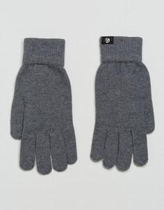 Серые перчатки из мериносовой шерсти PS by Paul Smith - Серый